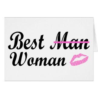 La meilleure femme d'homme cartes de vœux