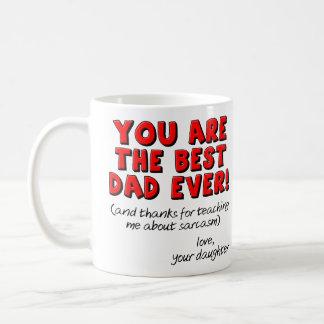 La meilleure fille drôle toujours sarcastique de mug blanc