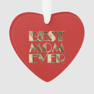 La meilleure maman de coeur de typographie rouge