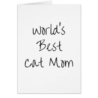 La meilleure maman du chat du monde - noir carte de vœux