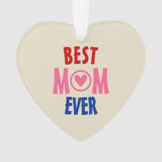 La meilleure perle d'ornement de coeur de maman