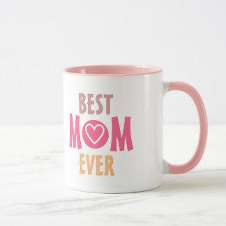La meilleure tasse de maman de couleurs en pastel
