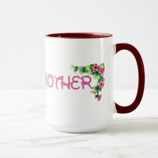 La meilleure tasse du jour de mère de fleur