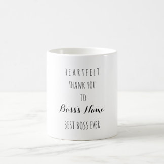 La meilleure typographie de patron de Merci Mug Blanc