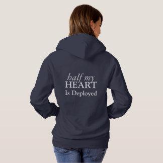 La moitié de mon coeur est sweatshirt déployé