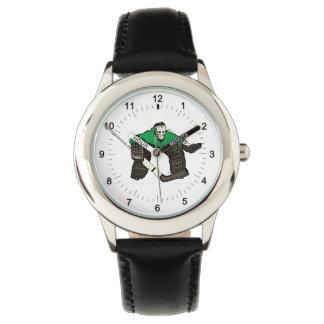 La montre-bracelet d'hockey de l'enfant artistique montres cadran