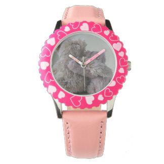 la montre de la fille d'amis d'ours de nounours