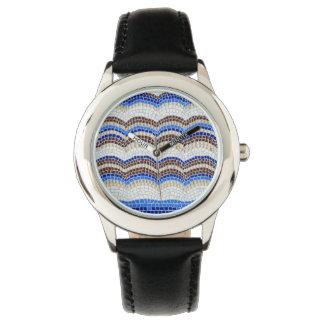 La montre des enfants bleus de mosaïque