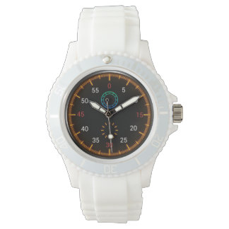 La montre des femmes colorées de tachymètre
