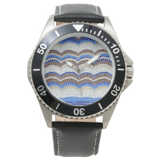 La montre des hommes bleus de mosaïque