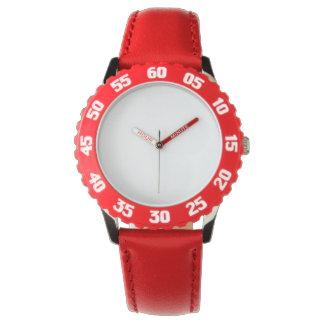 La montre rouge de l'acier inoxydable de l'enfant