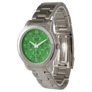 La montre vintage de trèfle   des hommes celtiques