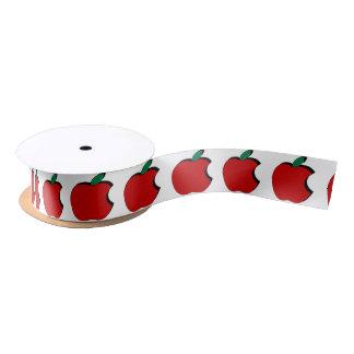 La morsure hors d'Apple a modelé le ruban de satin Ruban En Satin