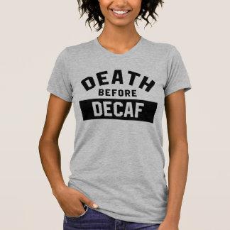La mort avant T-shirt Tumblr de Decaf