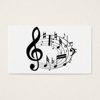 La musique d'échelle de musique note le noir et le cartes de visite
