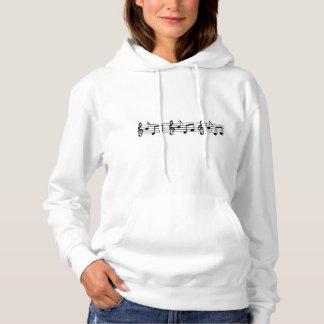 La musique des femmes note le sweatshirt à