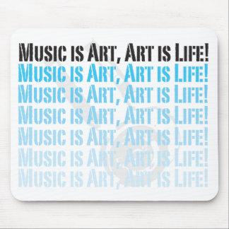 la musique est art, art est mousepad de la vie tapis de souris