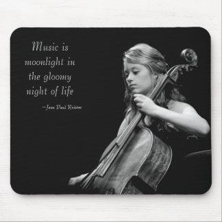 La musique est clair de lune tapis de souris