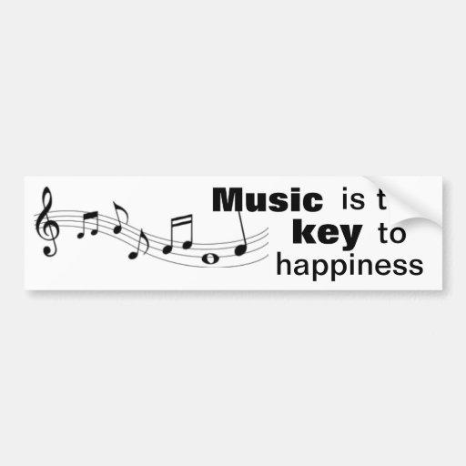 La musique est la clé au bonheur - adhésif pour pa adhésif pour voiture