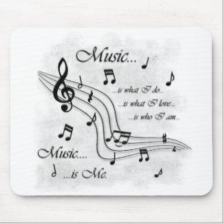 La musique est moi tapis de souris