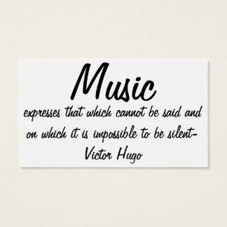 La musique exprime… cartes de visite