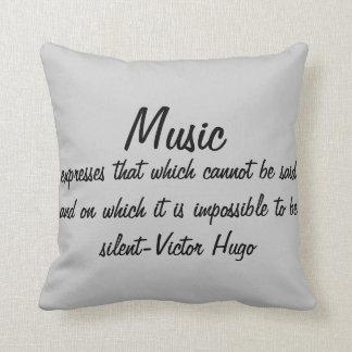 La musique exprime… coussin décoratif