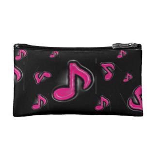 La musique rose de glace note le sac cosmétique