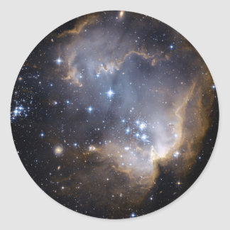 La NASA intelligente d'étoiles de NGC 602 Sticker Rond