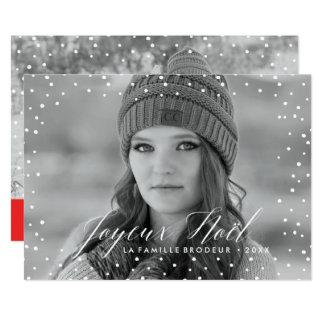 La Neige de Noël | Carte de Noël Carton D'invitation 12,7 Cm X 17,78 Cm