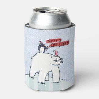 La neige de Noël d'ours blanc peut glacière
