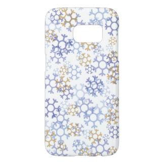 La neige s'écaille la galaxie S7 de Samsung, à Coque Samsung Galaxy S7