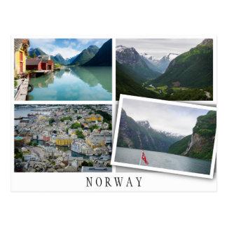 La Norvège aménage le collage en parc avec l'image Carte Postale