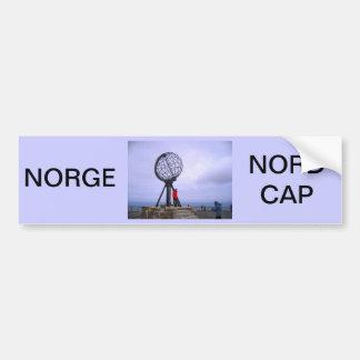 La Norvège, cap du nord, symbole de globe Autocollant De Voiture