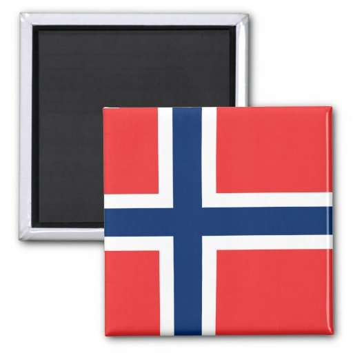 La Norvège - drapeau norvégien Aimants