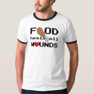 La nourriture guérit tout le T-shirt de blessures