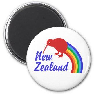 La Nouvelle Zélande Magnet Rond 8 Cm