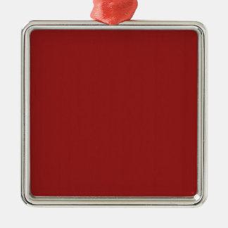 La nuance rouge vide de modèle ajoutent facilement ornement carré argenté