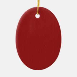 La nuance rouge vide de modèle ajoutent facilement ornement ovale en céramique