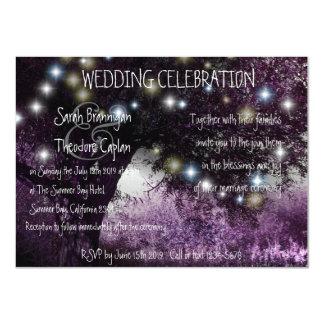 La nuit de chêne allume le mariage carton d'invitation  11,43 cm x 15,87 cm