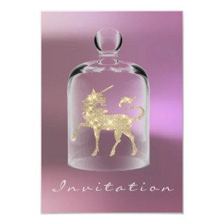 La nuit de filles d'anniversaire de licorne Party Carton D'invitation 8,89 Cm X 12,70 Cm