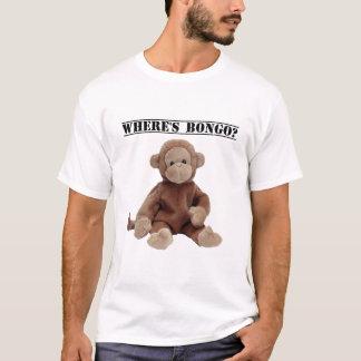 Là où est le bongo le T-shirt de singe