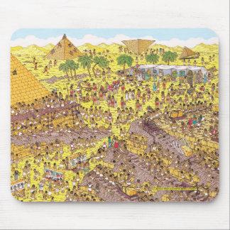Là où est l'énigme de Waldo | des pyramides Tapis De Souris