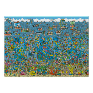 Là où est les plongeurs de mer profonde de Waldo Poster