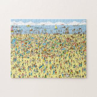Là où est Waldo sur la plage Puzzle