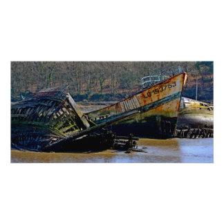 Là où vieux les bateaux se retirent cartes avec photo