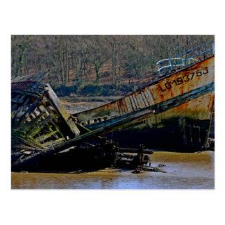 Là où vieux les bateaux vont se retirer cartes postales