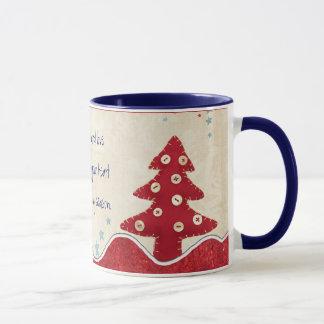 La paix et aiment cette tasse de Noël de saison