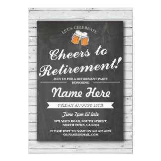 La partie de retraite encourage l'invitation en carton d'invitation  12,7 cm x 17,78 cm