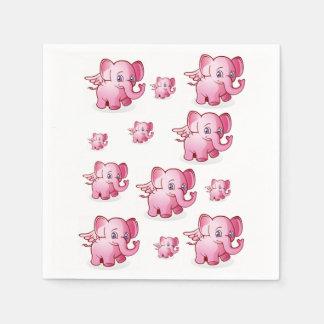 La partie de serviette d'éléphant des enfants serviettes en papier