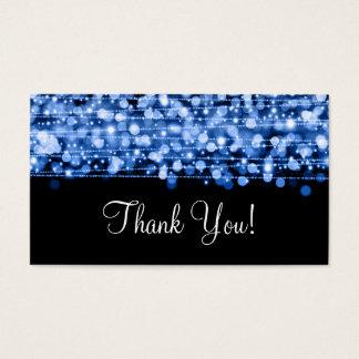 La partie d'insertion de Merci miroite bleu Cartes De Visite
